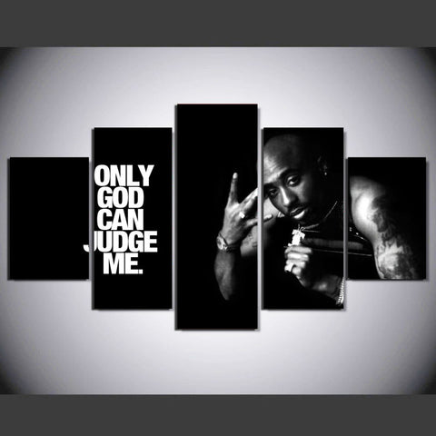 Tupac 5 Piece Canvas Wall Hanging Art Print Canvas Print Got It Here