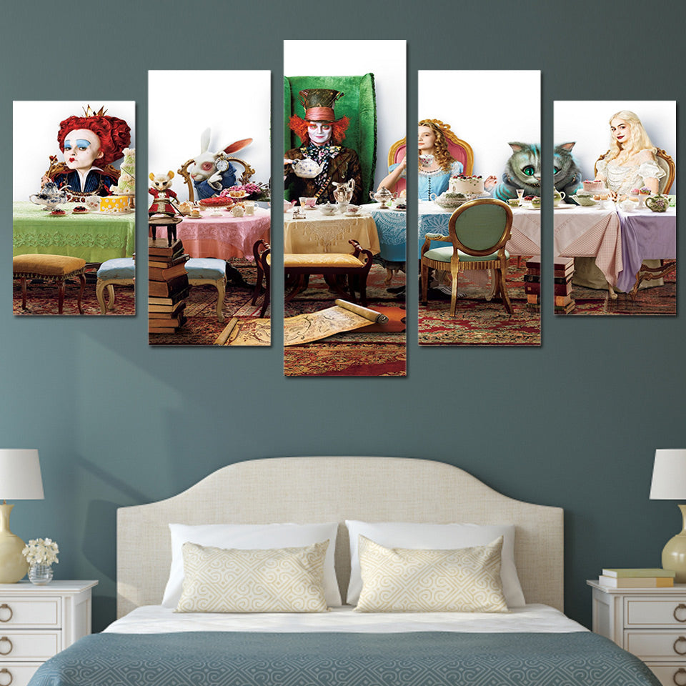 Alice In Wonderland Johnny Depp 5 Panel Canvas Print Wall Art Canvas Print Got It Here