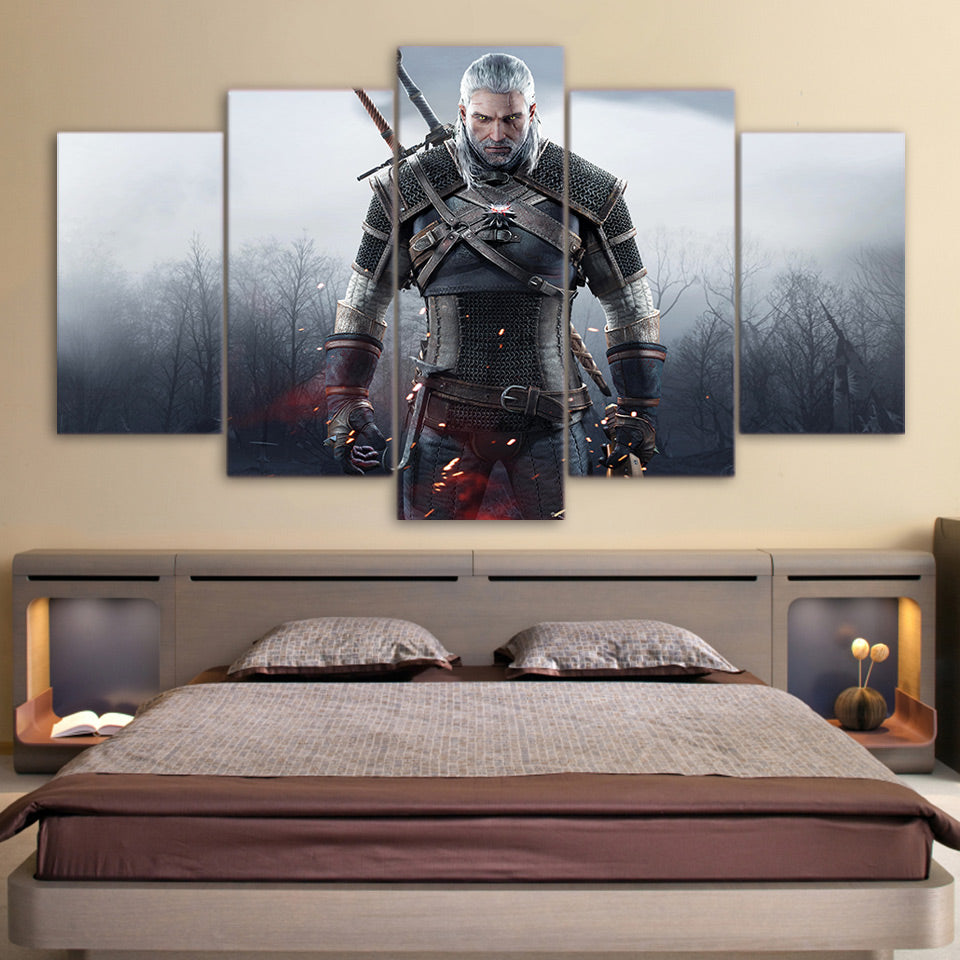 The Witcher 3: Wild Hunt 5 Panel Canvas Print Wall Art Canvas Print Got It Here