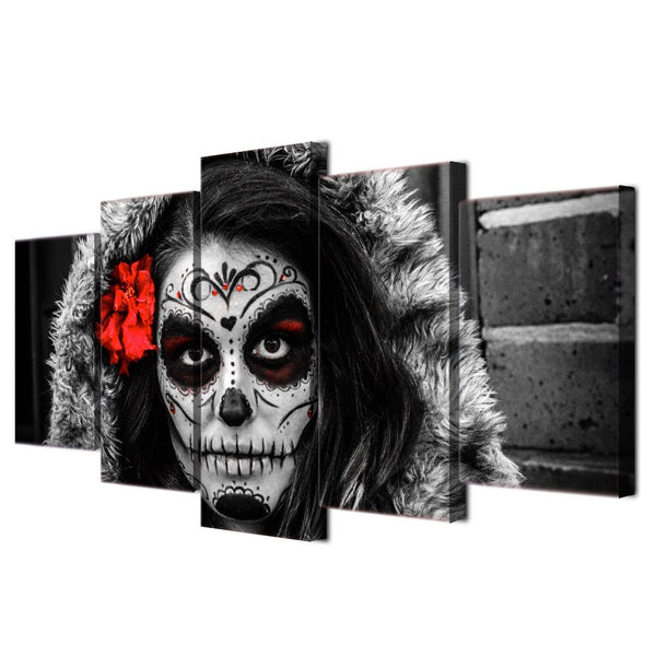 Dia De Los Muertos Day Of The Dead 5 Panel Canvas Print Wall Art