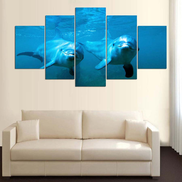 Bottlenose Dolphin 5 Panel Canvas Print Wall Art Canvas Print Got It Here