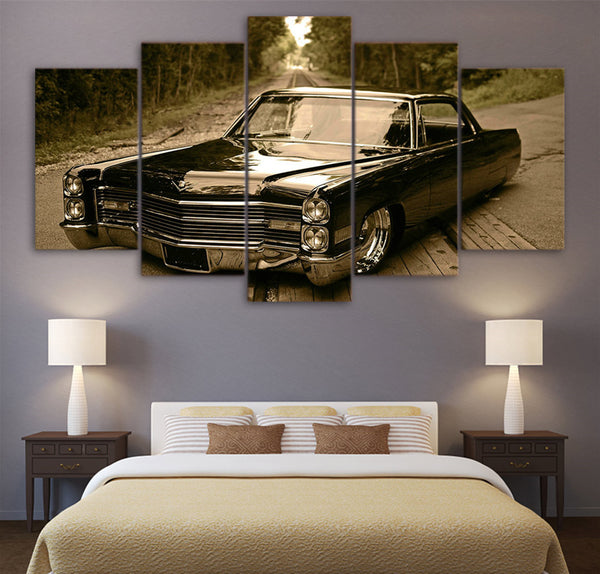 1966 Cadillac Lowrider 5 Panel Canvas Print Wall Art Canvas Print Got It Here