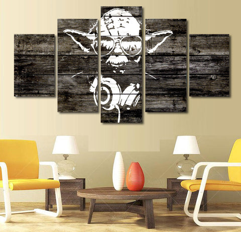 Star Wars DJ Yoda 5 Panel Canvas Print Wall Art Canvas Print Got It Here