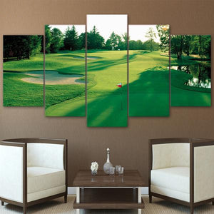 Golf Course Morning Golfing 5 Panel Canvas Print Wall Art Canvas Print Got It Here
