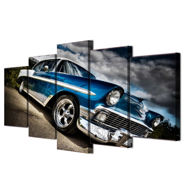 1956 Chevy Chevrolet 5 Panel Canvas Print Wall Art Canvas Print Got It Here