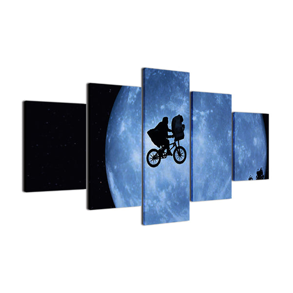 E.T. The Extra Terrestrial 5 Panel Canvas Print Wall Art Canvas Print Got It Here