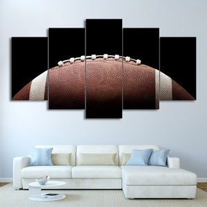 Football Pigskin 5 Panel Canvas Print Wall Art