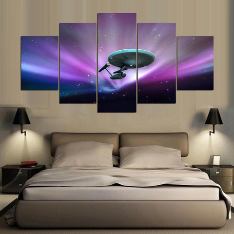 Star Trek TOS Enterprise 5 Panel Canvas Print Wall Art Canvas Print Got It Here
