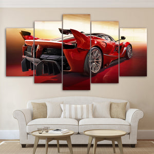 Ferrari FXX-K 5 Panel Canvas Print Wall Art Canvas Print Got It Here