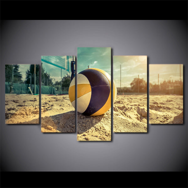 Beach Volleyball 5 Panel Canvas Print Wall Art Canvas Print Got It Here