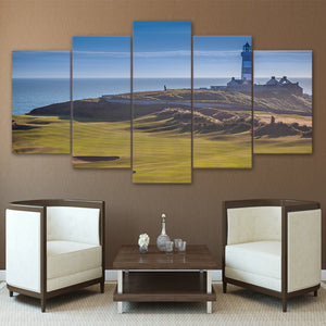 Old Head Golf Links Kinsale Ireland 5 Panel Canvas Print Wall Art Canvas Print Got It Here