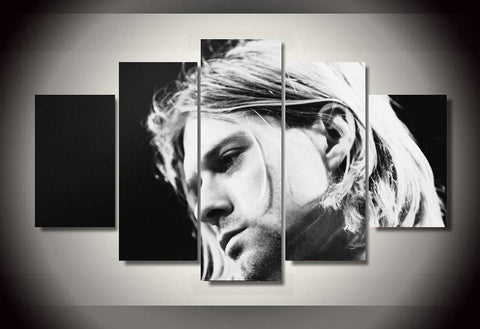 Kurt Cobain 5 Panel Canvas Print Wall Art Nirvana Canvas Print Got It Here