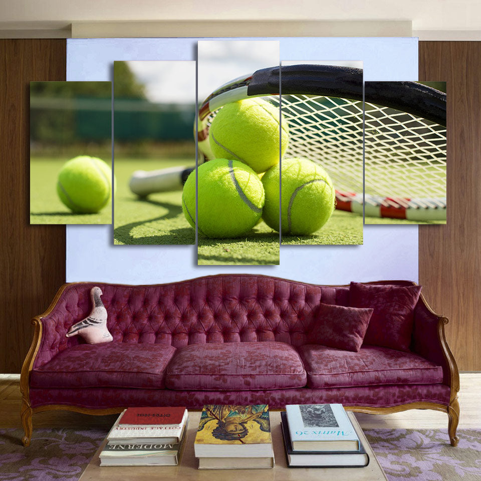 Tennis Racket 5 Panel Canvas Print Wall Art Canvas Print Got It Here