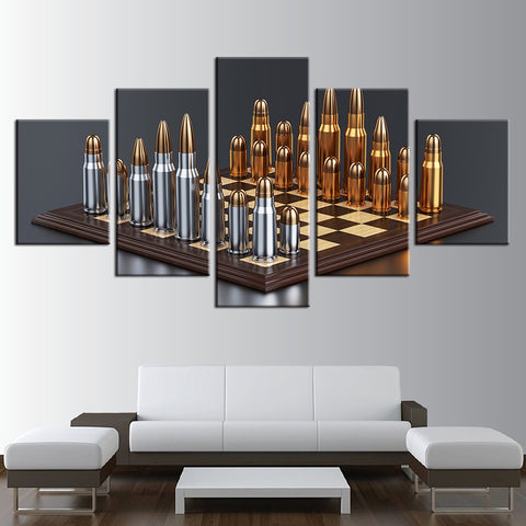 Bullet Chess 5 Panel Canvas Print Wall Art Canvas Print Got It Here