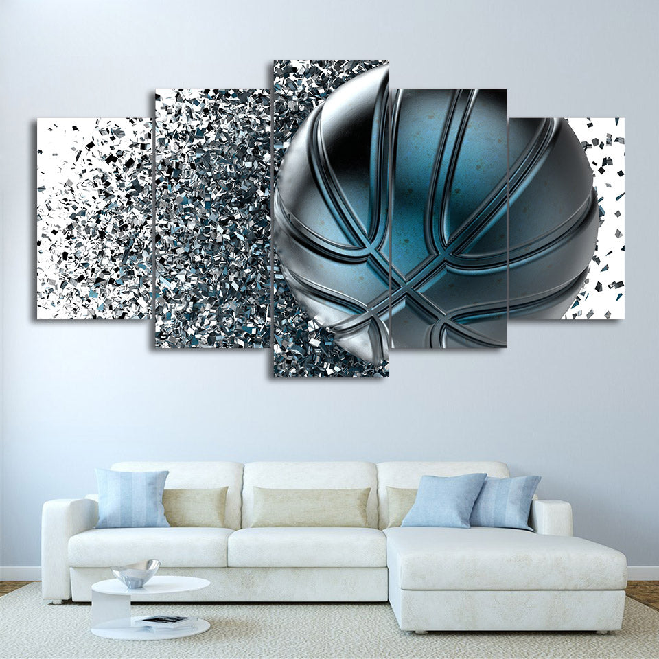 Basketball Abstract 5 Panel Canvas Print Wall Art Canvas Print Got It Here