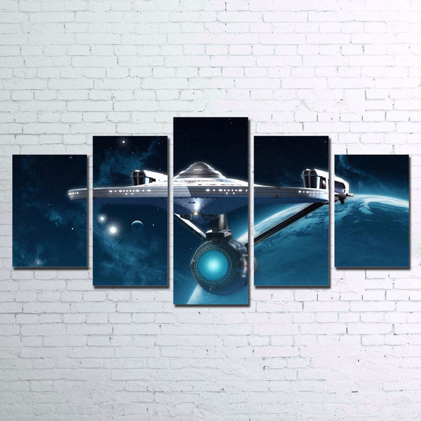 Star Trek 5 Panel Canvas Wall Art Print Canvas Print Got It Here