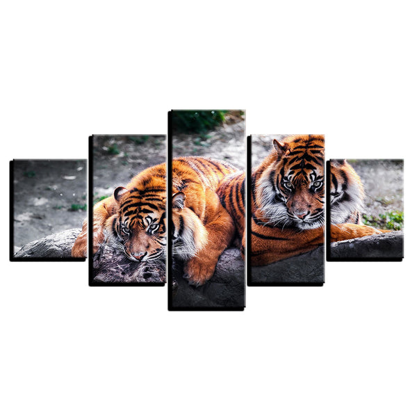 Tigers 5 Panel Canvas Print Wall Art Canvas Print Got It Here