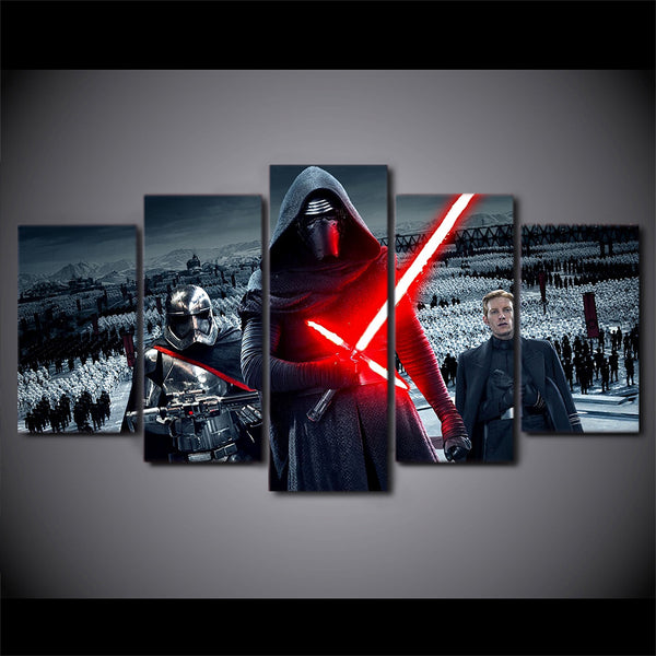 Star Wars Kylo Ren And The First Order 5 Panel Canvas Print Wall Art Canvas Print Got It Here