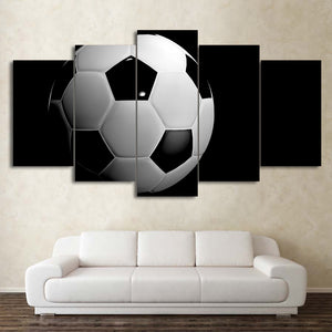 Soccer Ball Football 5 Panel Canvas Print Wall Art Canvas Print Got It Here