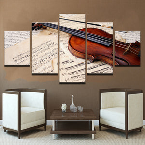 Violin Sheet Music 5 Panel Canvas Print Wall Art Canvas Print Got It Here