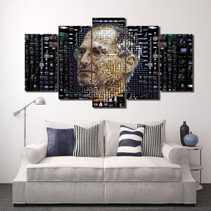 Steve Jobs Apple 5 Panel Canvas Print Wall Art