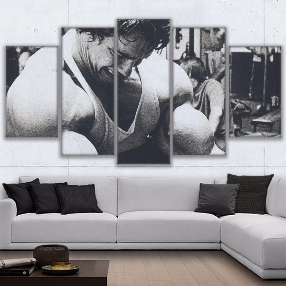 Arnold Schwarzenegger Bodybuilding 5 Panel Canvas Print Wall Art Canvas Print Got It Here