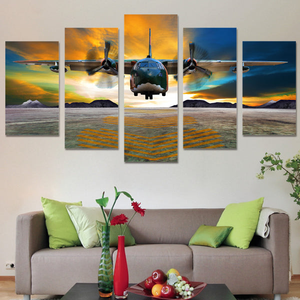 Fairchild C-123 Provider 5 Panel Canvas Print Wall Art Canvas Print Got It Here