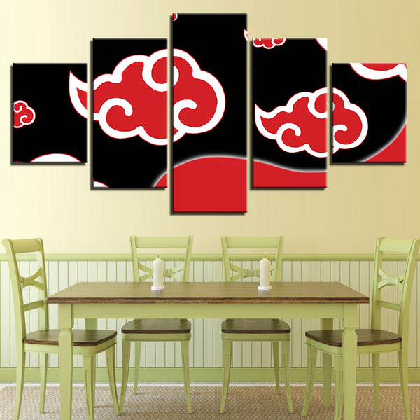 Naruto Shippuden Totems 5 Panel Canvas Print Wall Art