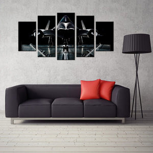 SR-71 Blackbird 5 Panel Canvas Print Wall Art