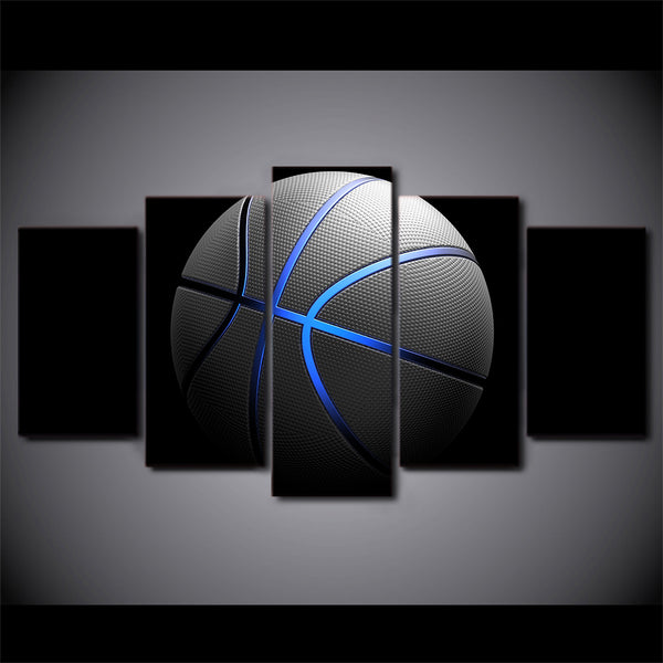 Basketball 5 Panel Canvas Print Wall Art Canvas Print Got It Here