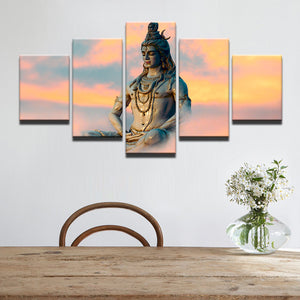 Shiva 5 Panel Canvas Print Wall Art Canvas Print Got It Here