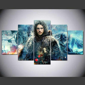 Game Of Thrones Jon Snow 5 Panel Canvas Print Wall Art Canvas Print Got It Here