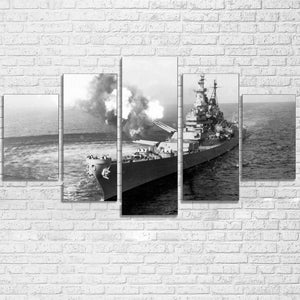 USS Missouri Battleship 5 Panel Canvas Print Wall Art Canvas Print Got It Here