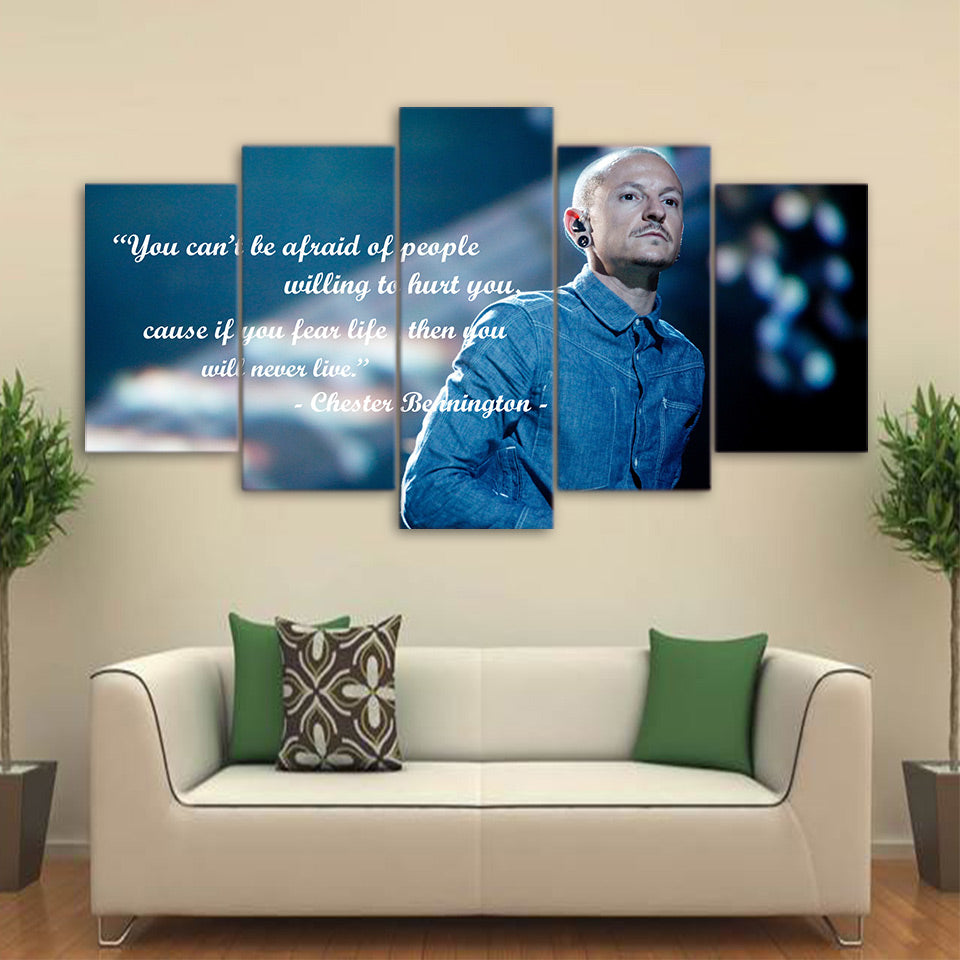 Chester Bennington Quote Linkin Park 5 Panel Canvas Print Wall Art Canvas Print Got It Here