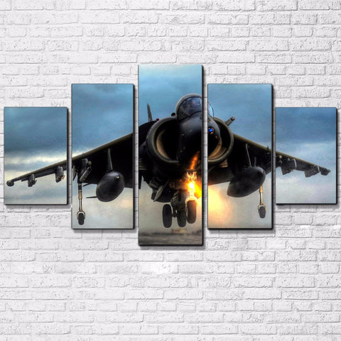 Harrier Jump Jet 5 Panel Canvas Print Wall Art Canvas Print Got It Here