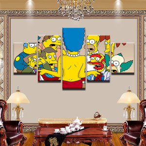 The Simpsons Marge Flashes 5 Panel Canvas Print Wall Art