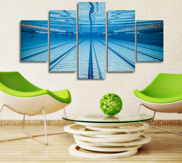 Olympic Swimming Pool 5 Panel Canvas Print Wall Art Canvas Print Got It Here