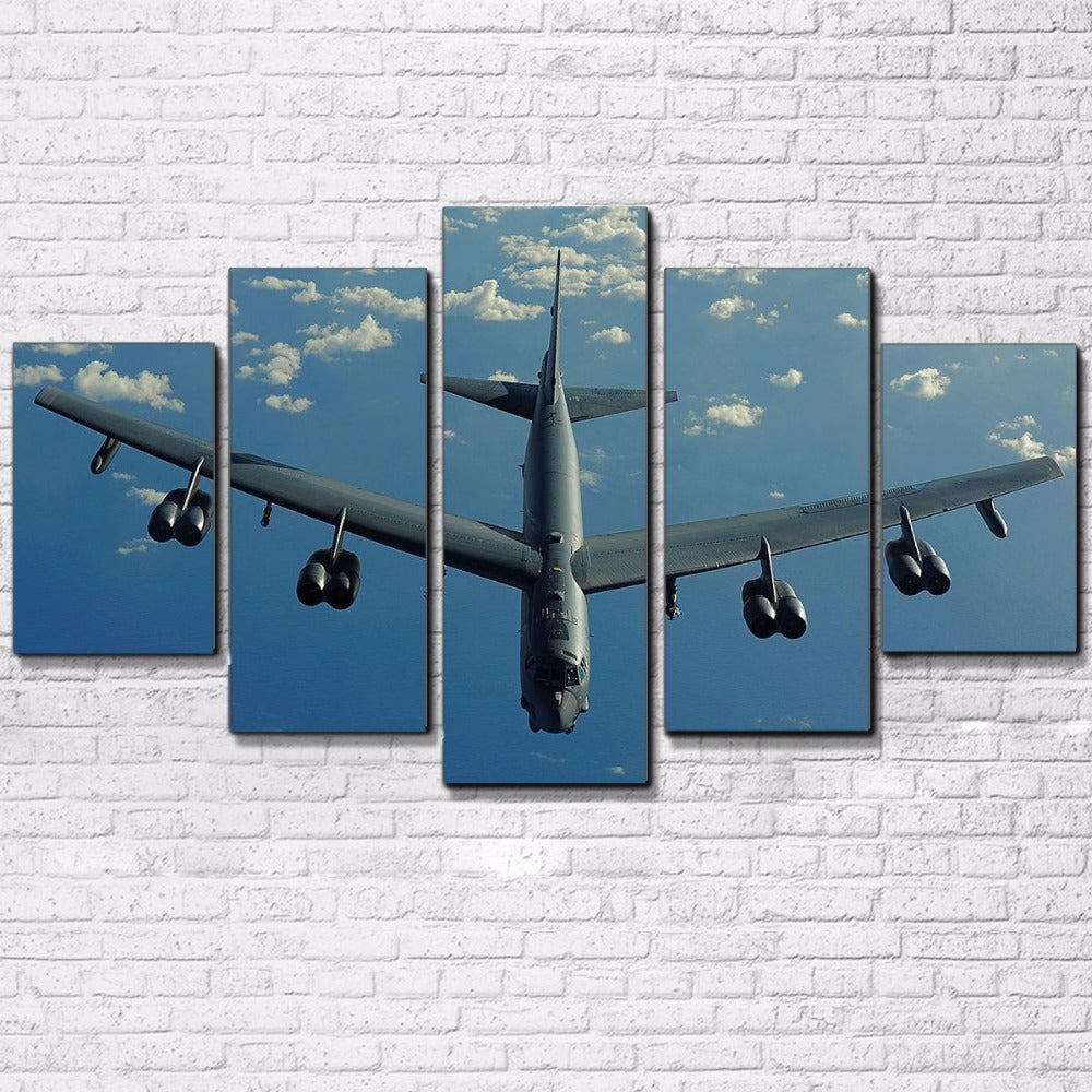 B-52 Bomber 5 Panel Canvas Print Wall Art Canvas Print Got It Here