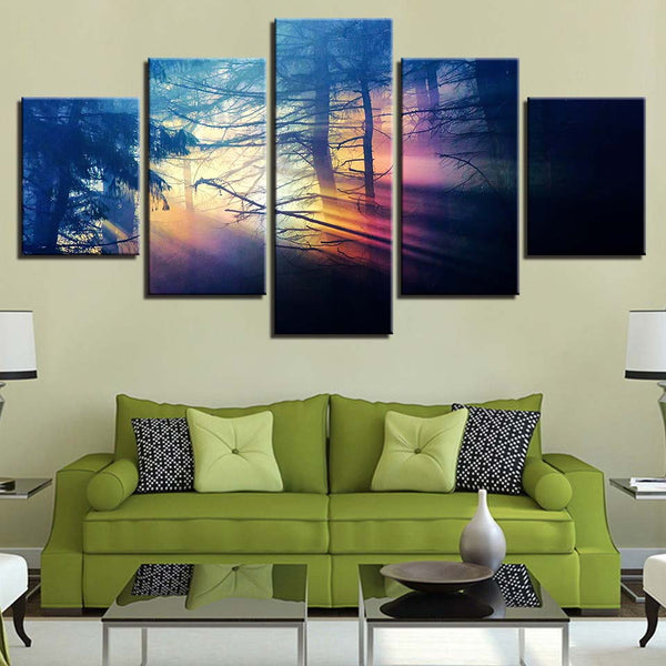 Mystical Forest 5 Panel Canvas Print Wall Art Canvas Print Got It Here