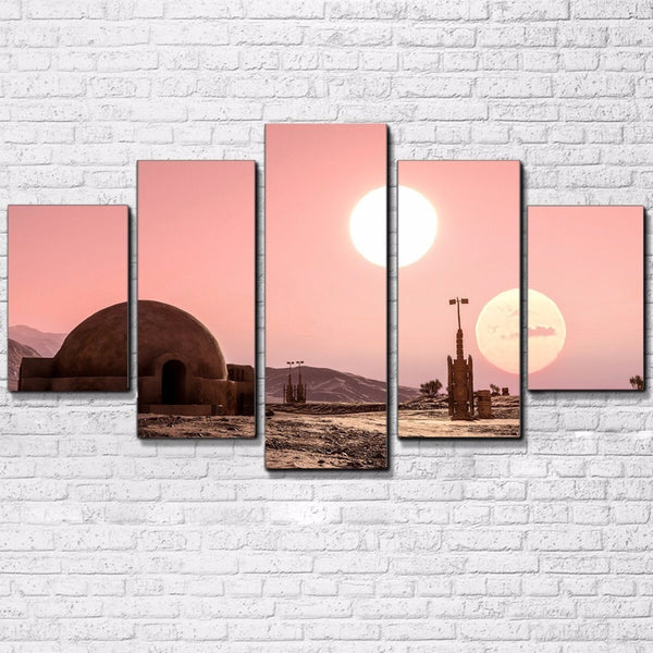 Star Wars Tatooine 5 Panel Canvas Print Wall Art Canvas Print Got It Here