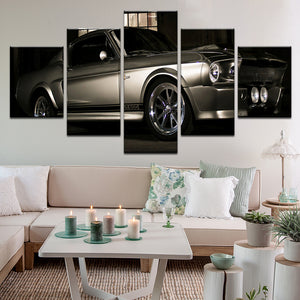 Gone In 60 Seconds Eleanor 1967 Mustang Shelby GT500 5 Panel Canvas Print Wall Art
