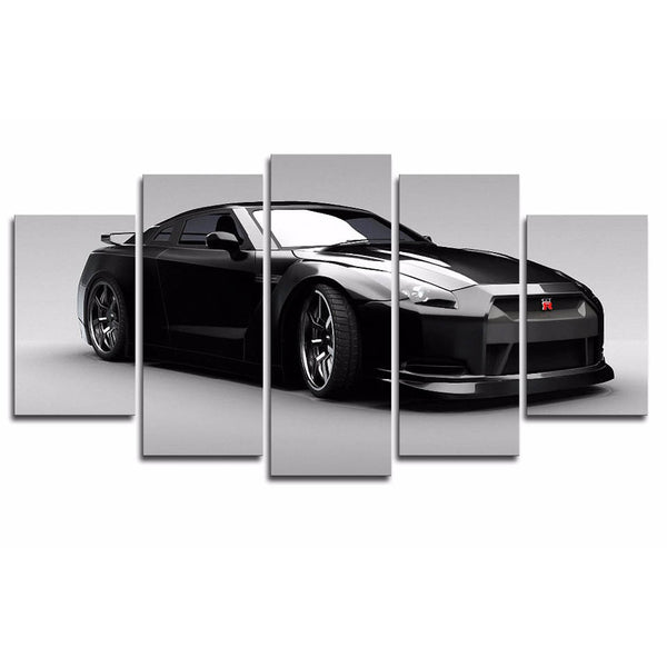 Nissan GT-R 5 Panel Canvas Print Wall Art Canvas Print Got It Here