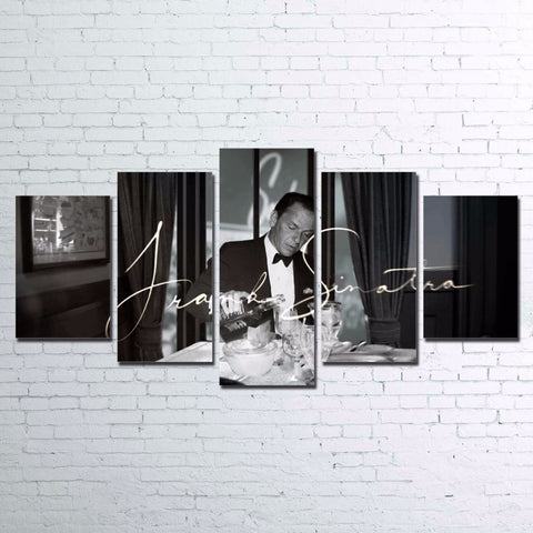 Frank Sinatra 5 Panel Canvas Print Wall Art Jack Daniels Whiskey Canvas Print Got It Here