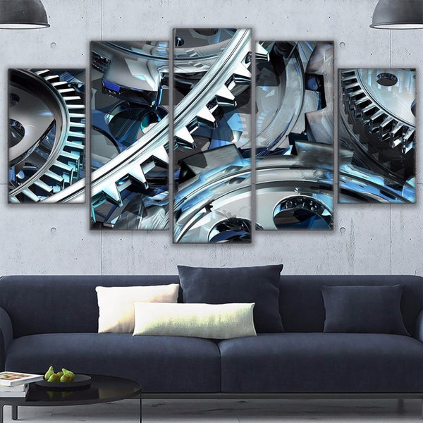 Watch Gears 5 Panel Canvas Print Wall Art Canvas Print Got It Here