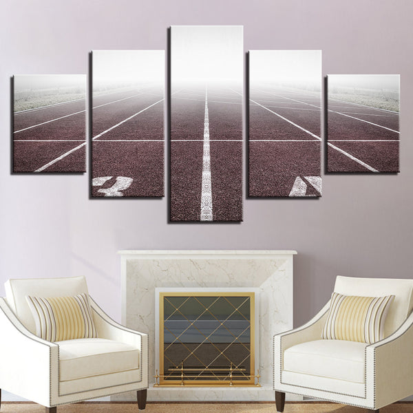 Starting Grid Running Track And Field 5 Panel Canvas Print Wall Art Canvas Print Got It Here