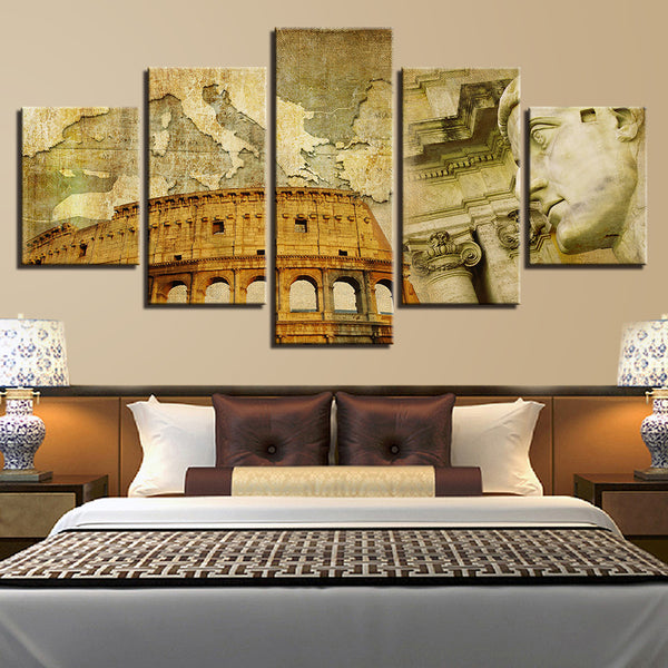 Colosseum Rome Italy 5 Panel Canvas Print Wall Art Canvas Print Got It Here