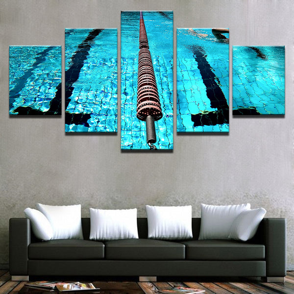 Olympic Swimming Pool Lane Divider 5 Panel Canvas Print Wall Art Canvas Print Got It Here