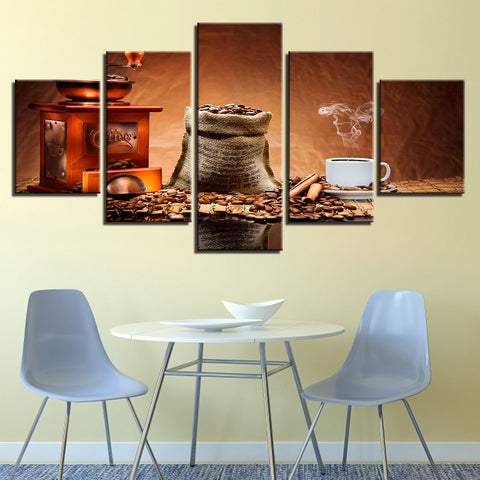 Coffee Shop Cafe Restaurant 5 Panel Canvas Print Wall Art Canvas Print Got It Here