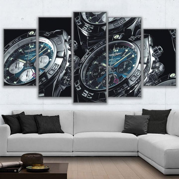 Breitling Watches 5 Panel Canvas Print Wall Art Canvas Print Got It Here