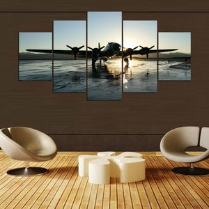 B17 Bomber 5 Panel Canvas Print Wall Art Canvas Print Got It Here